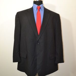 Pronto Uomo 48R Sport Coat Blazer Suit Jacket Blac